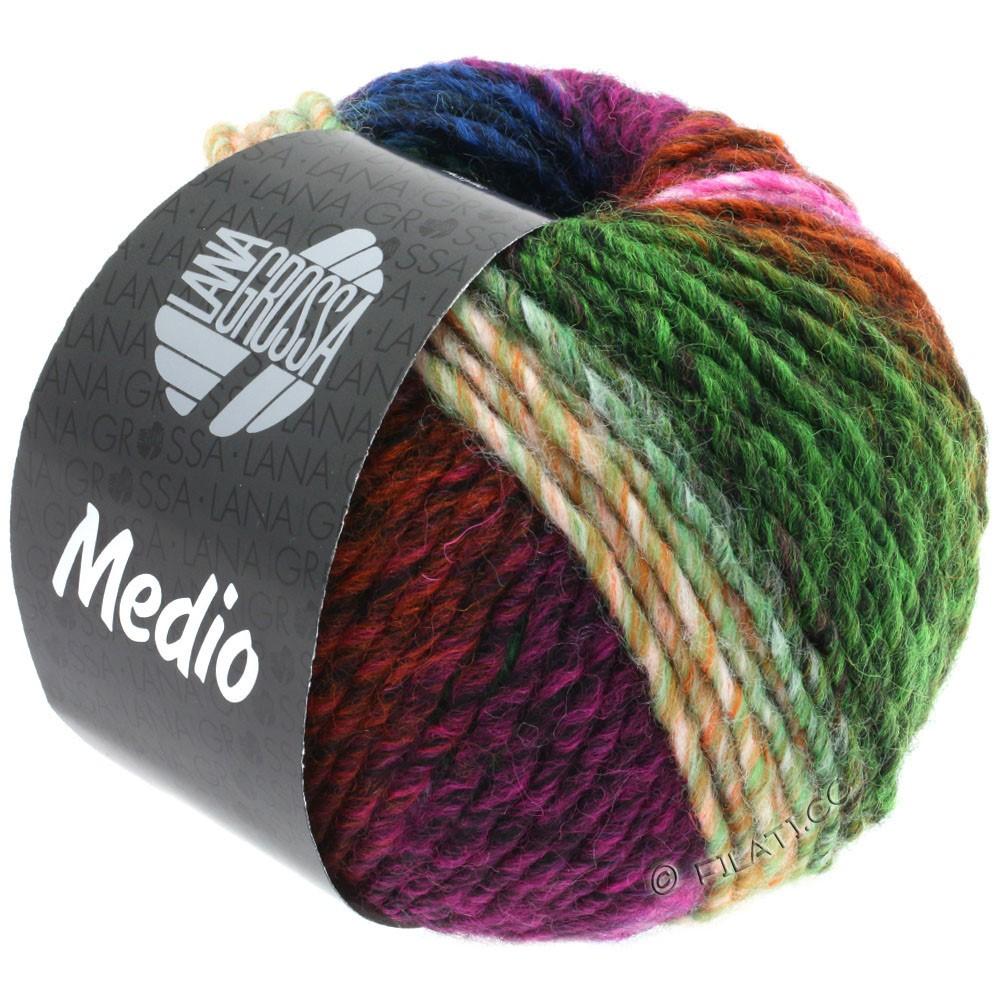 Lana Grossa MEDIO | 44-цикламеновый/розовый/пихта/красно-коричневый/зелёный/синий/оранжевый/жёлтый/петроль