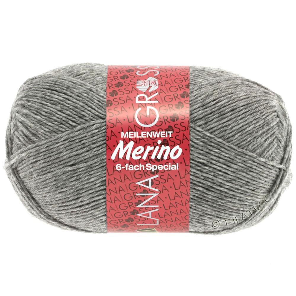 Lana Grossa MEILENWEIT 6-FACH 150g Merino | 6-серый