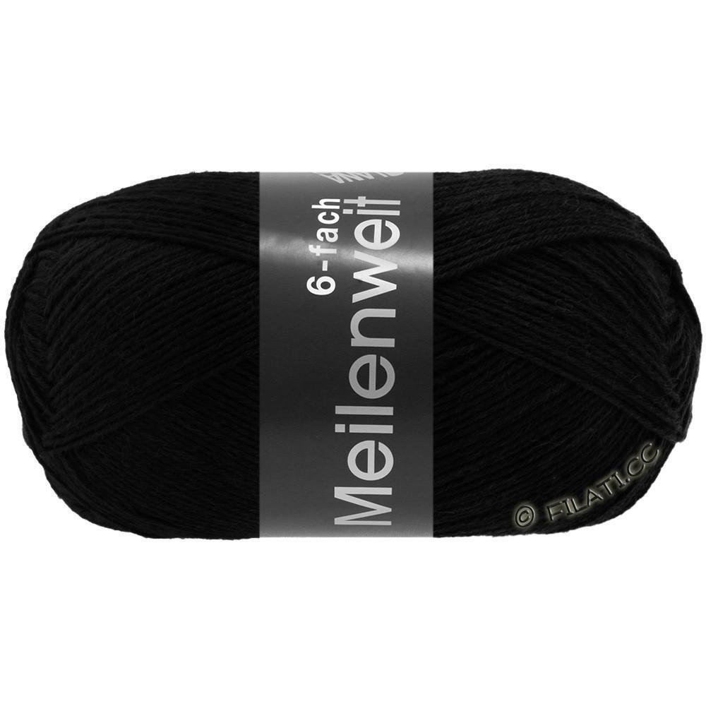 Lana Grossa MEILENWEIT 6-FACH 150g Uni/Tweed | 8814-чёрный
