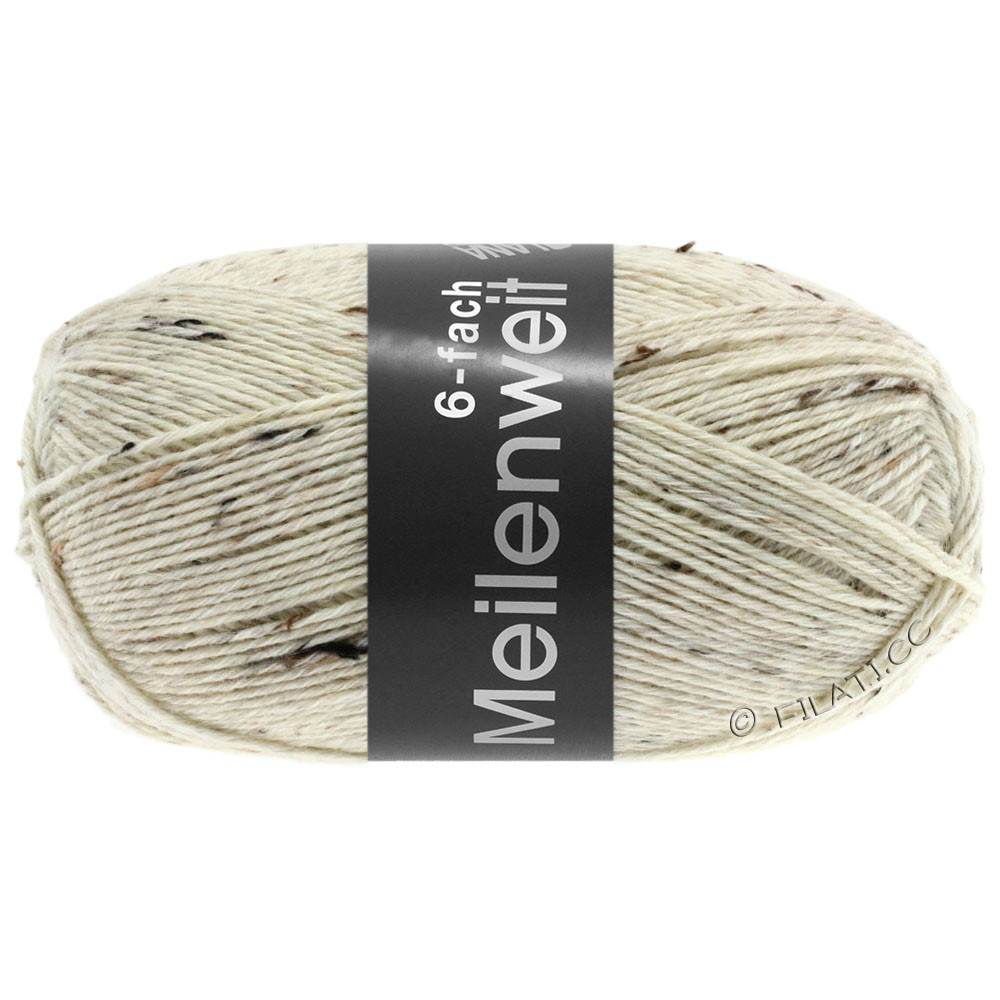 Lana Grossa MEILENWEIT 6-FACH 150g Print/Tweed | 8817-натуральный меланжевый