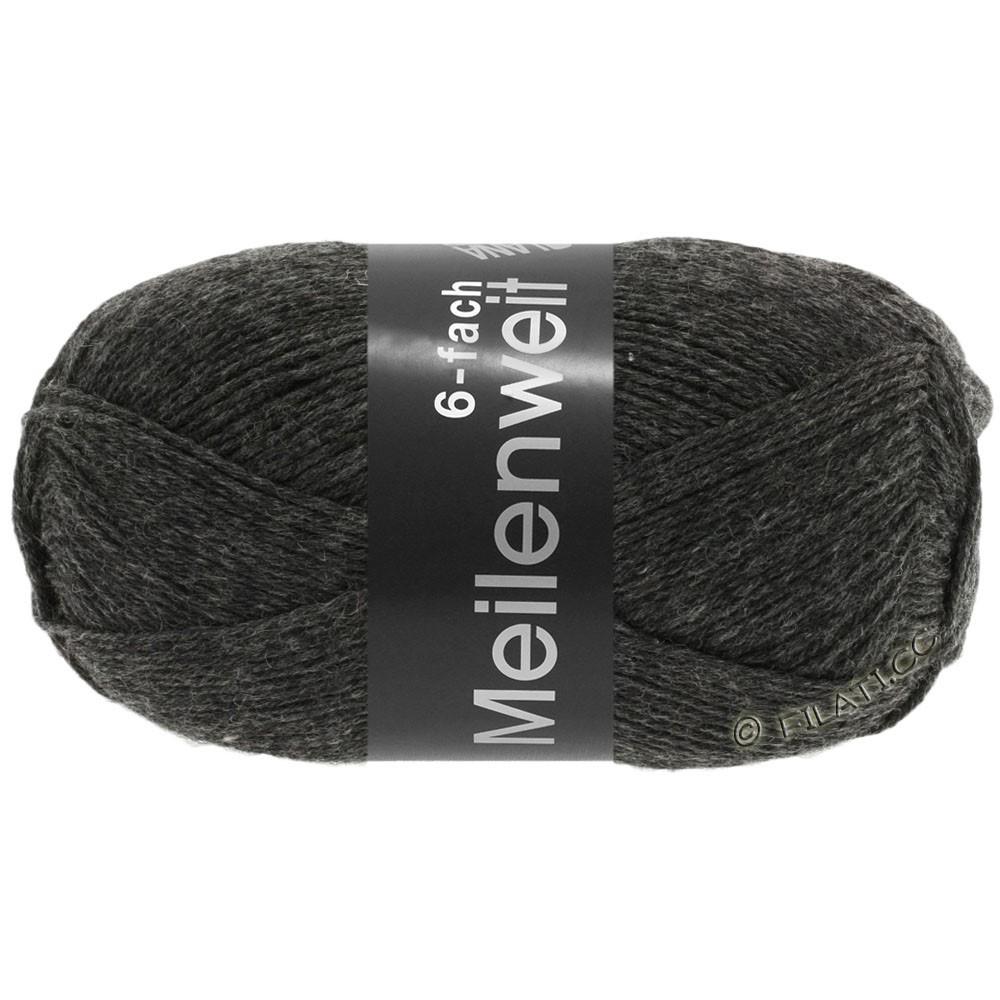 Lana Grossa MEILENWEIT 6-FACH 150g Uni/Tweed | 8853-антрацитовый