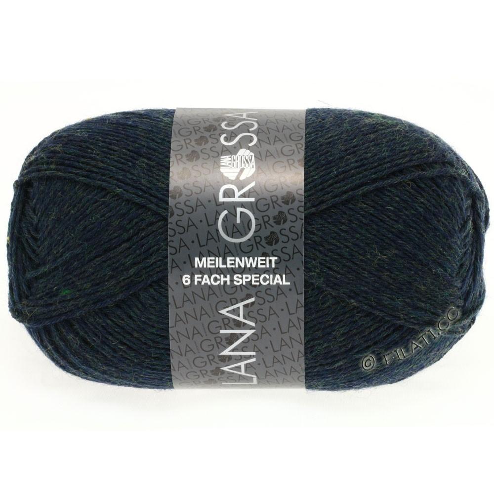 Lana Grossa MEILENWEIT 6-FACH 150g Uni/Tweed | 8886-тёмный петроль