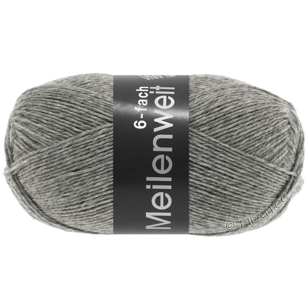 Lana Grossa MEILENWEIT 6-FACH 150g Uni | 8961-серый меланжевый