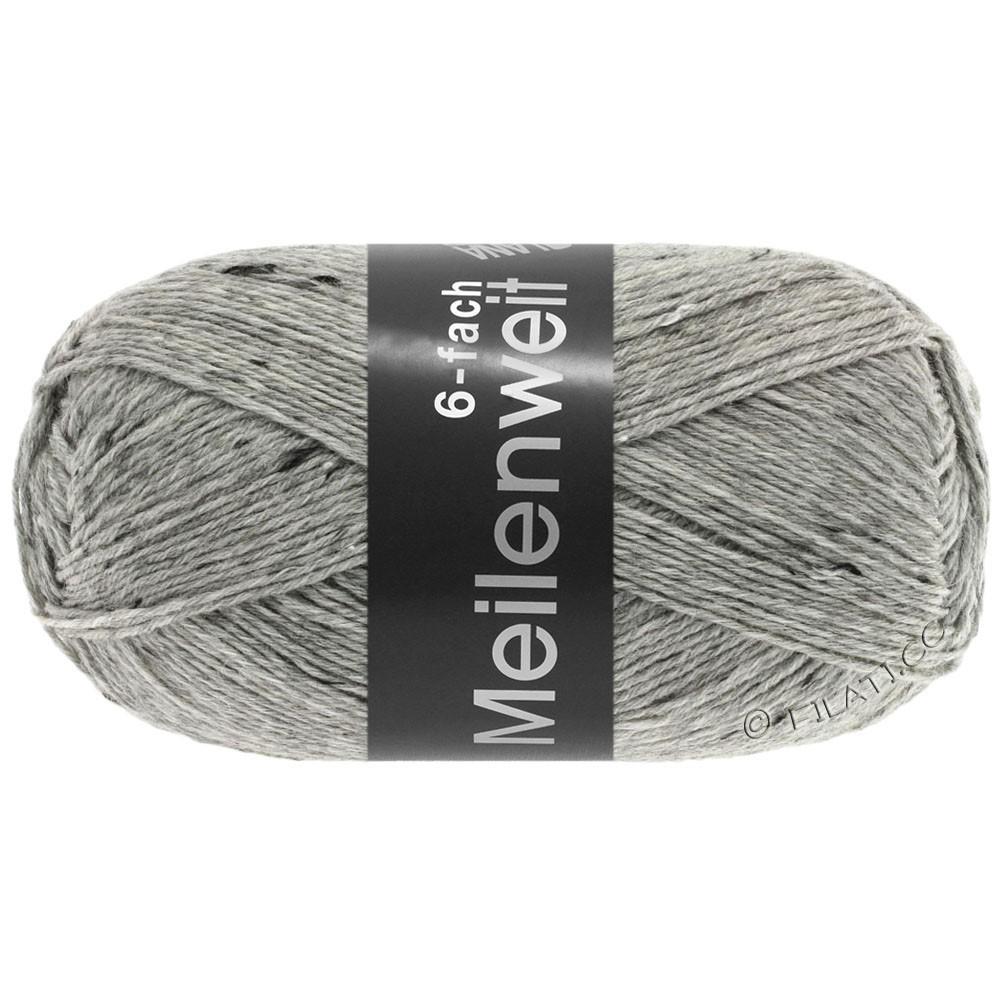 Lana Grossa MEILENWEIT 6-FACH 150g Uni/Tweed | 8972-светло-серый микс