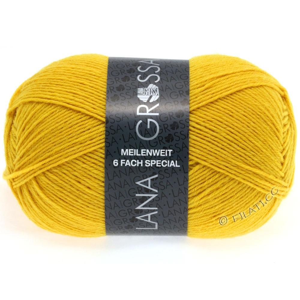 Lana Grossa MEILENWEIT 6-FACH 150g Uni/Tweed | 9043-жёлтый