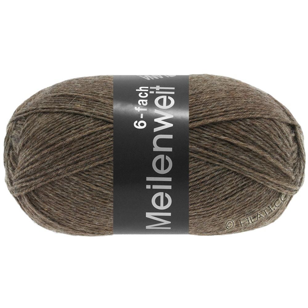 Lana Grossa MEILENWEIT 6-FACH 150g Uni/Tweed | 9103-коричневый