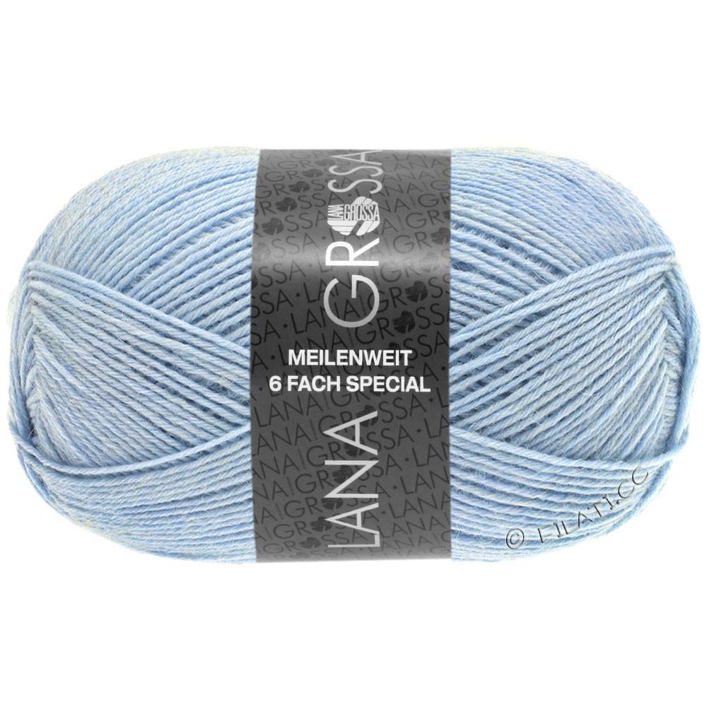 Lana Grossa MEILENWEIT 6-FACH 150g Uni/Tweed | 9219-светло-голубой