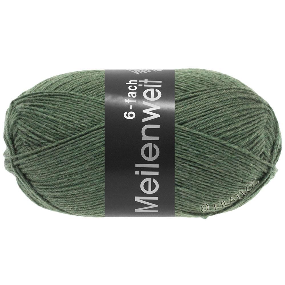 Lana Grossa MEILENWEIT 6-FACH 150g Uni/Tweed | 9221-оливковый
