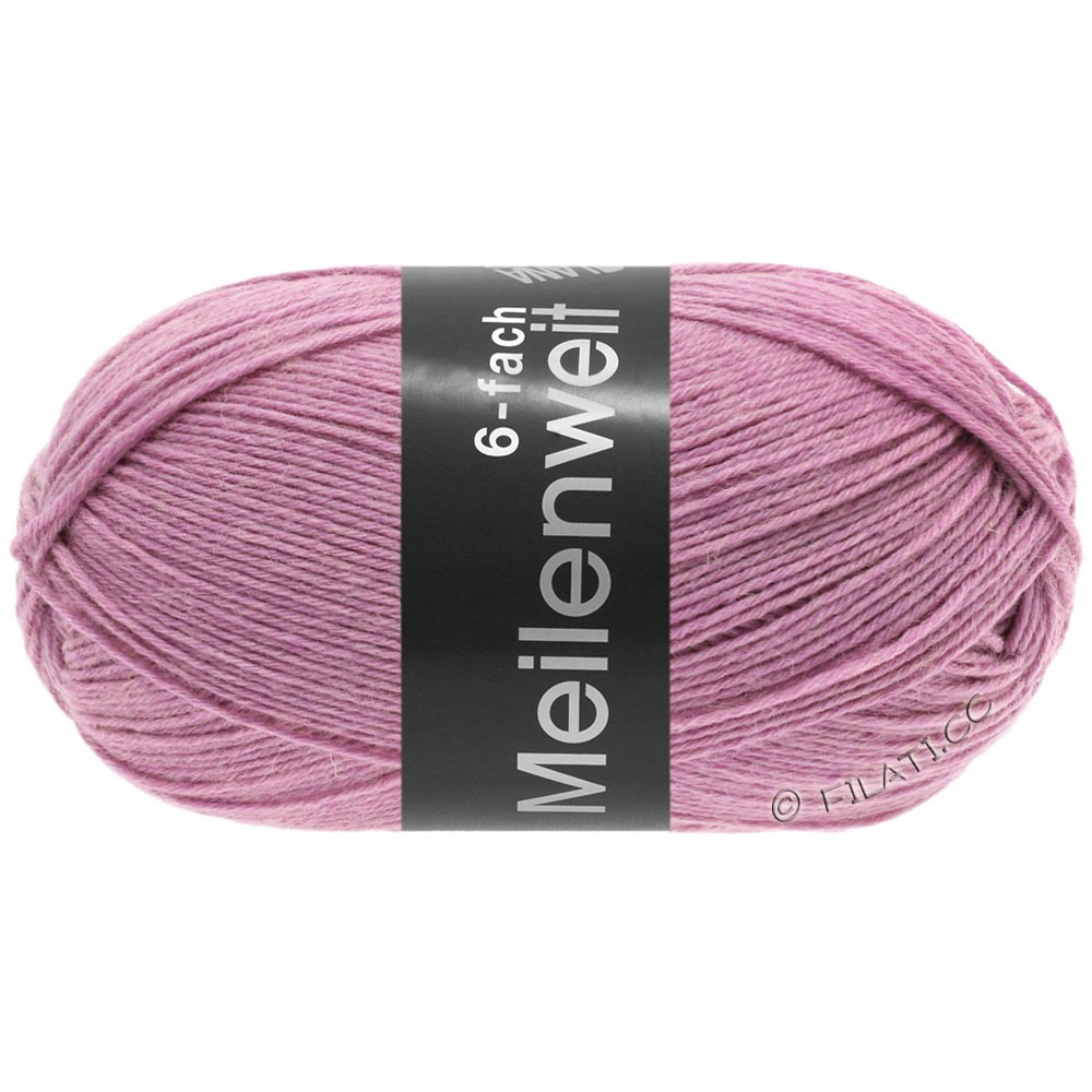 Lana Grossa MEILENWEIT 6-FACH 150g Uni/Tweed | 9223-Старый розовый