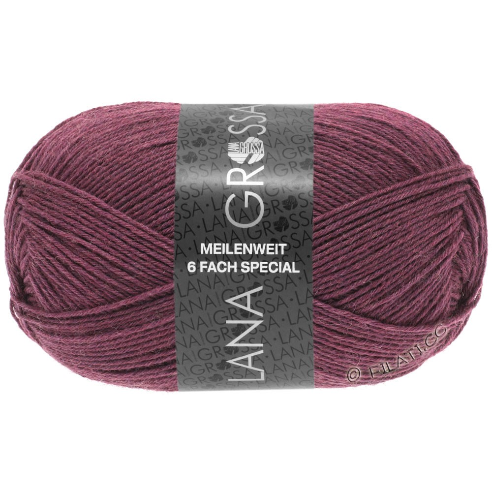 Lana Grossa MEILENWEIT 6-FACH 150g Uni | 9225-ягодный