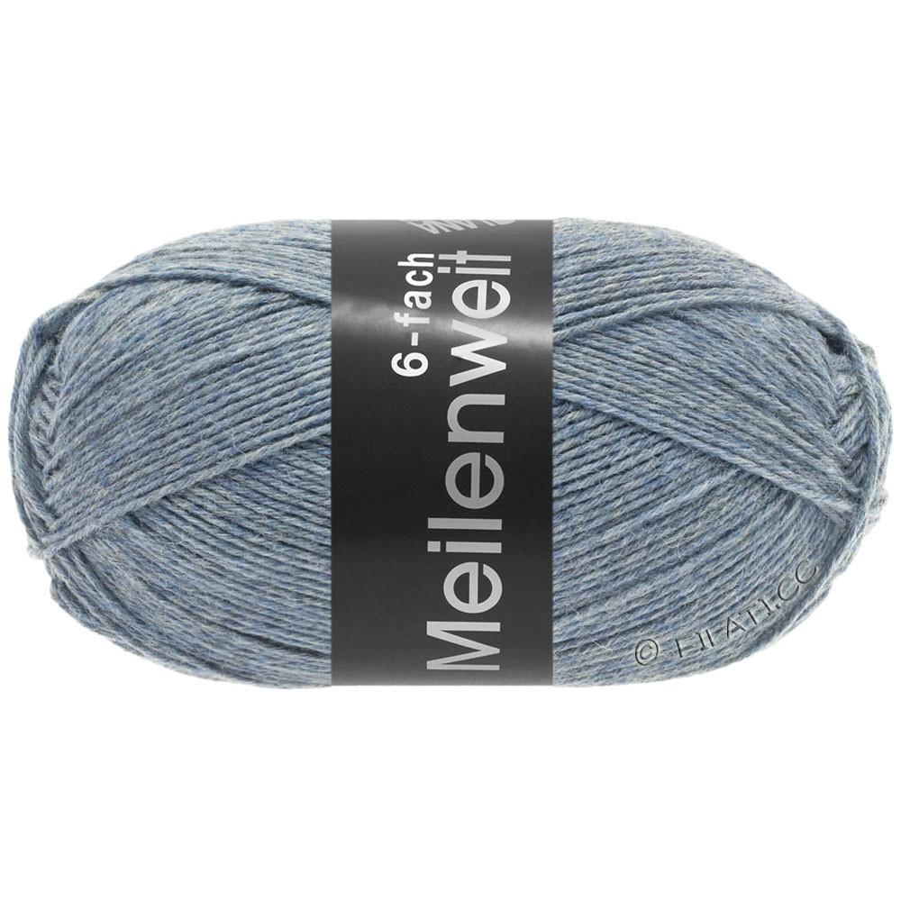Lana Grossa MEILENWEIT 6-FACH 150g Uni/Tweed | 9226-светло-голубой микс