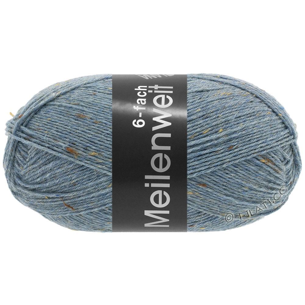 Lana Grossa MEILENWEIT 6-FACH 150g Print/Tweed | 9227-джинс-синий меланжевый