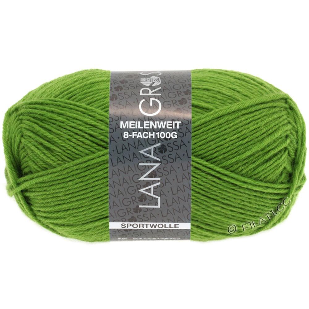 Lana Grossa MEILENWEIT 8-FACH 100g Uni | 9554-светло-зелёный