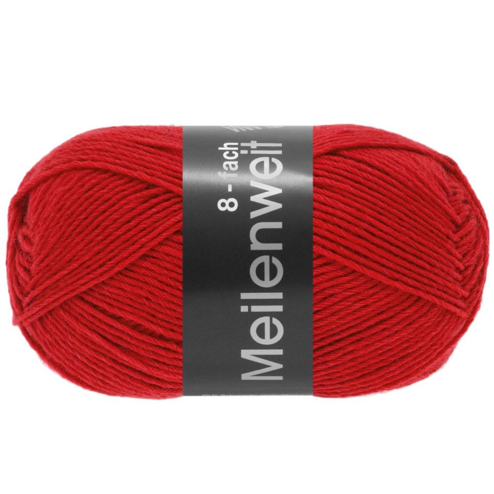 Lana Grossa MEILENWEIT 8-FACH 100g Uni | 9555-красный
