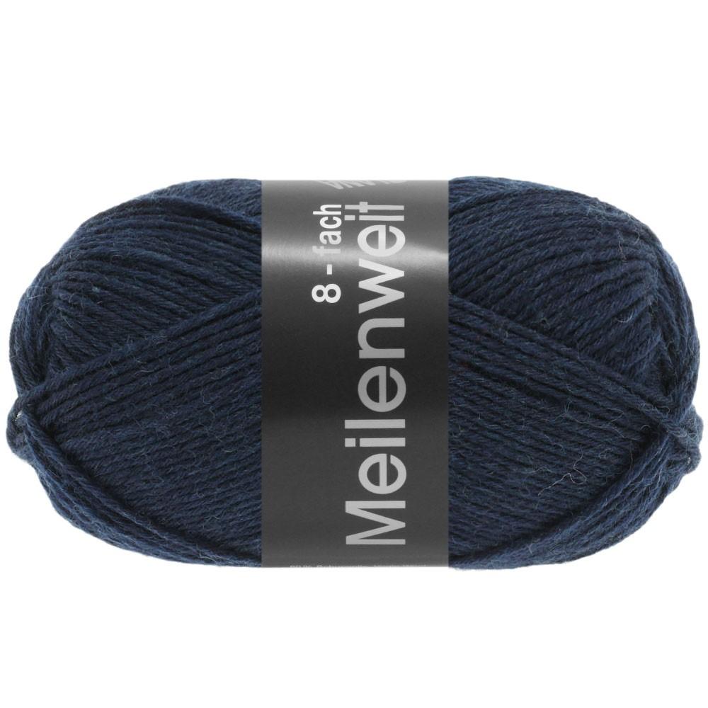 Lana Grossa MEILENWEIT 8-FACH 100g Uni | 9556-тёмно-синий