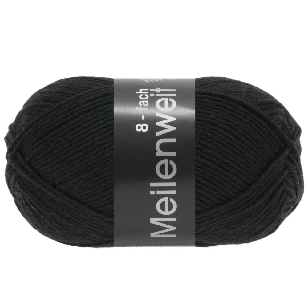 Lana Grossa MEILENWEIT 8-FACH 100g Uni | 9558-чёрный