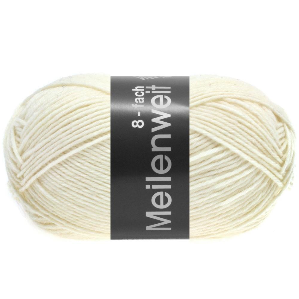 Lana Grossa MEILENWEIT 8-FACH 100g Uni | 9560-белый