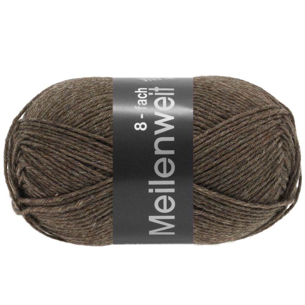 Lana Grossa MEILENWEIT 8-FACH 100g Uni | 9612-коричневый
