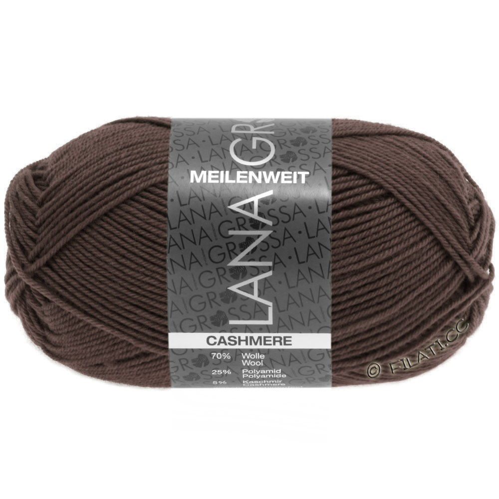 Lana Grossa MEILENWEIT 50g Cashmere | 15-коричневый