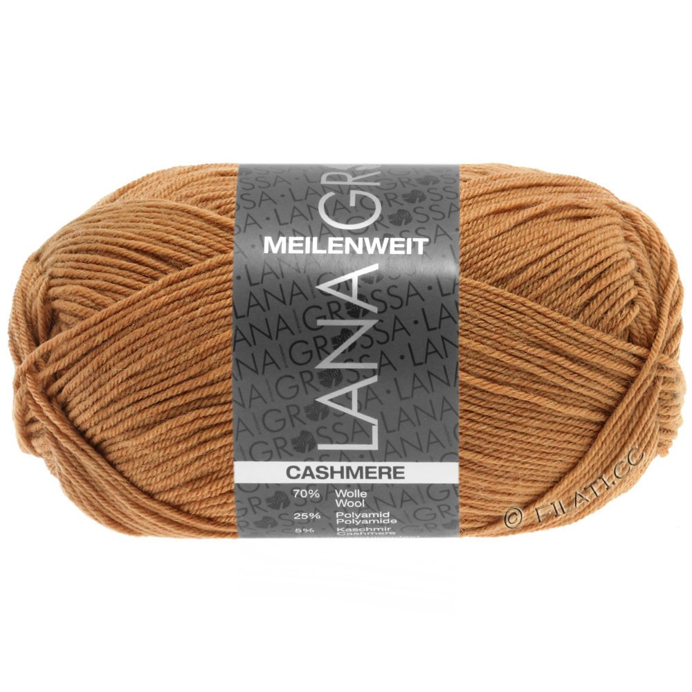 Lana Grossa MEILENWEIT 50g Cashmere | 21-светло-коричневый