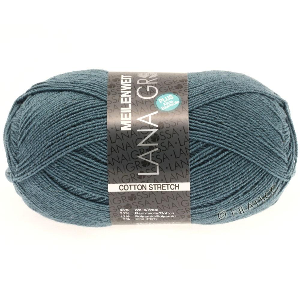 Lana Grossa MEILENWEIT 100г Cotton Stretch | 8012-серо-синий/серо-синий