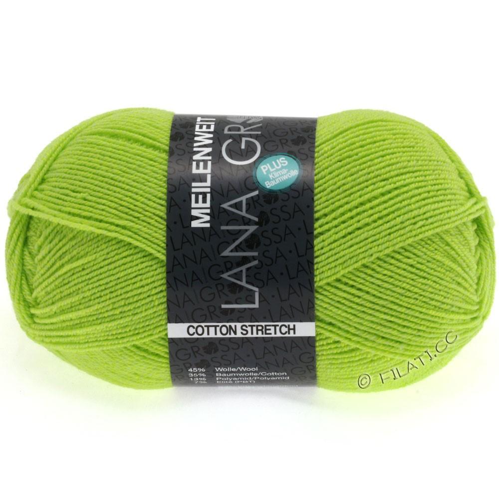 Lana Grossa MEILENWEIT 100г Cotton Stretch | 8033-киви зеленый