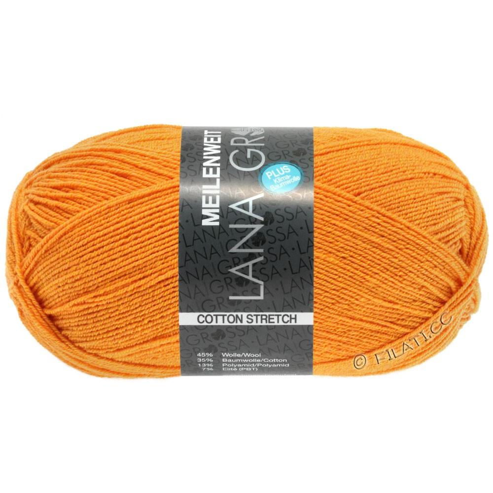Lana Grossa MEILENWEIT 100г Cotton Stretch | 8044-мандариновый