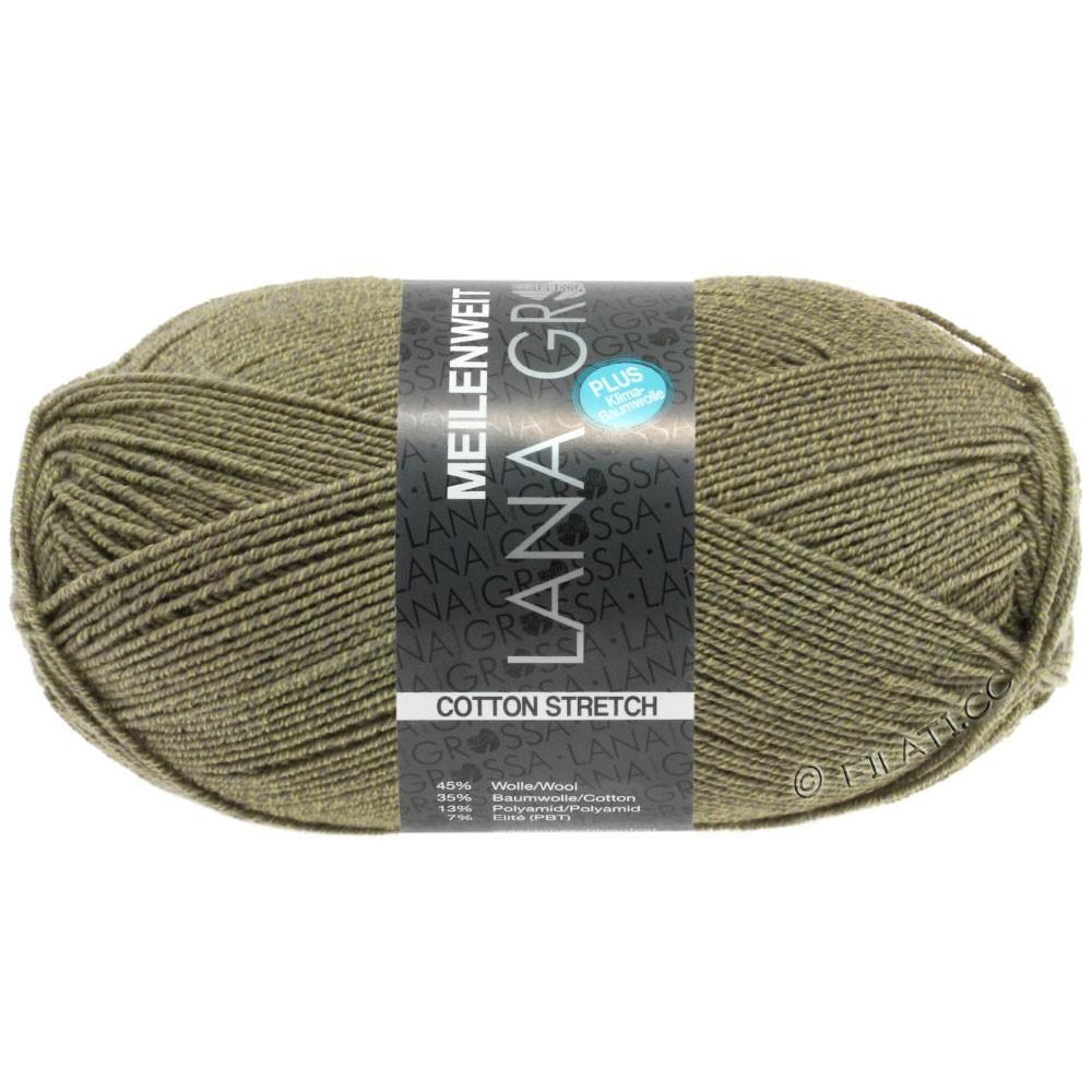 Lana Grossa MEILENWEIT 100г Cotton Stretch | 8046-хаки