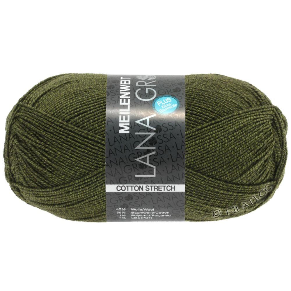 Lana Grossa MEILENWEIT 100г Cotton Stretch | 8048-оливково-зелёный