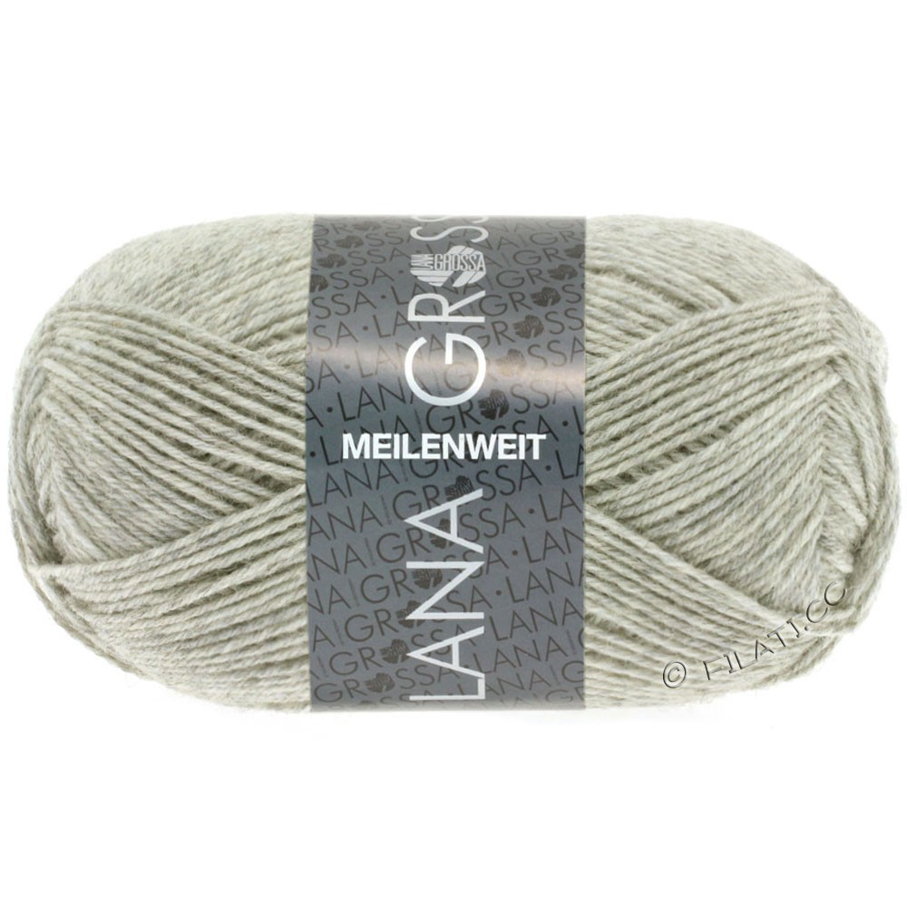Lana Grossa MEILENWEIT 50g Uni   1102-натуральный меланжевый