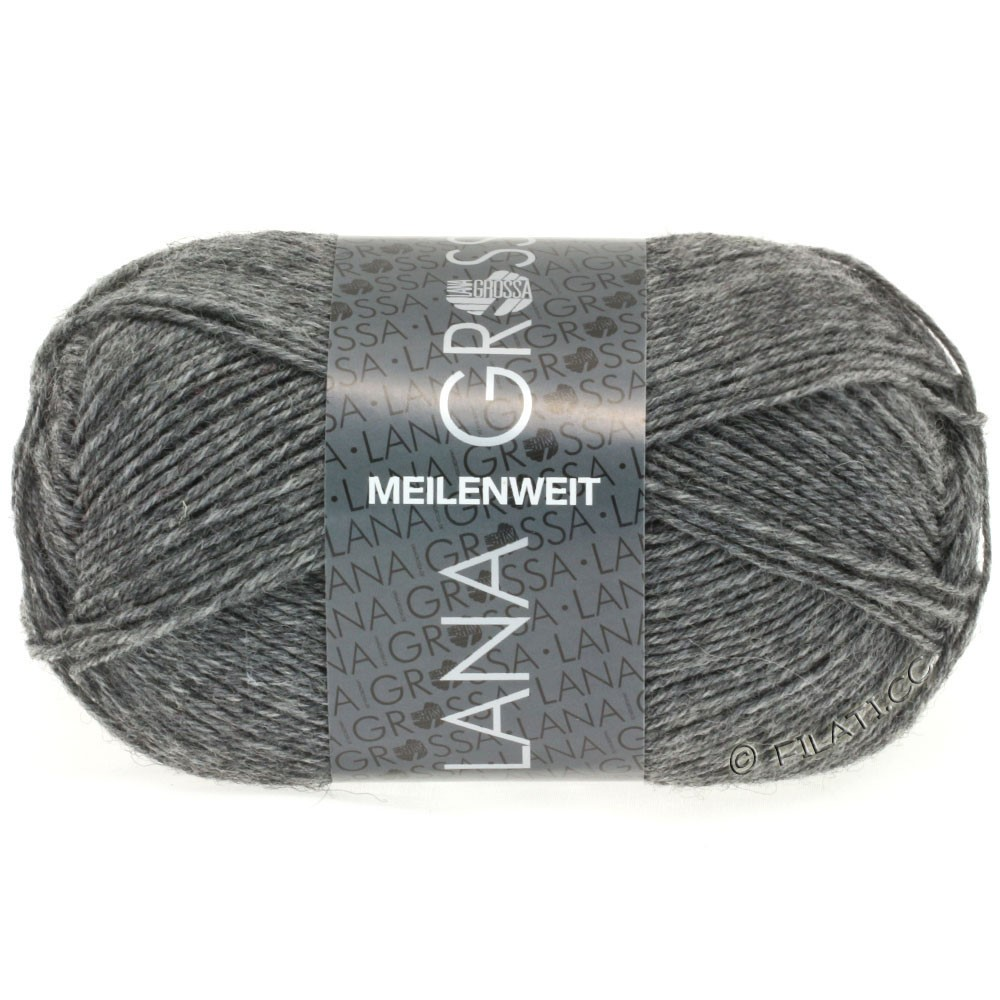 Lana Grossa MEILENWEIT 50g Uni   1104-серый меланжевый