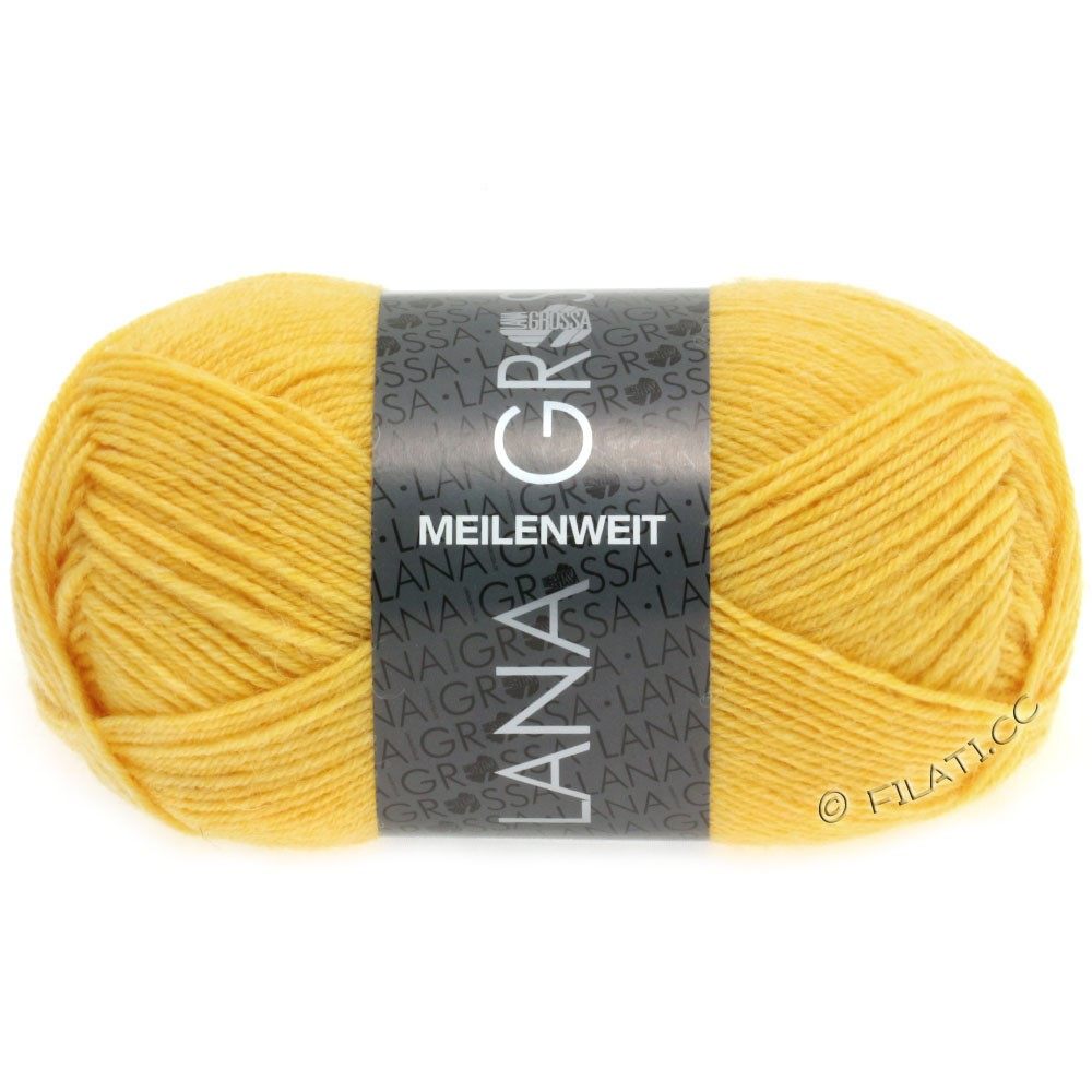 Lana Grossa MEILENWEIT 50g Uni | 1283-жёлтый