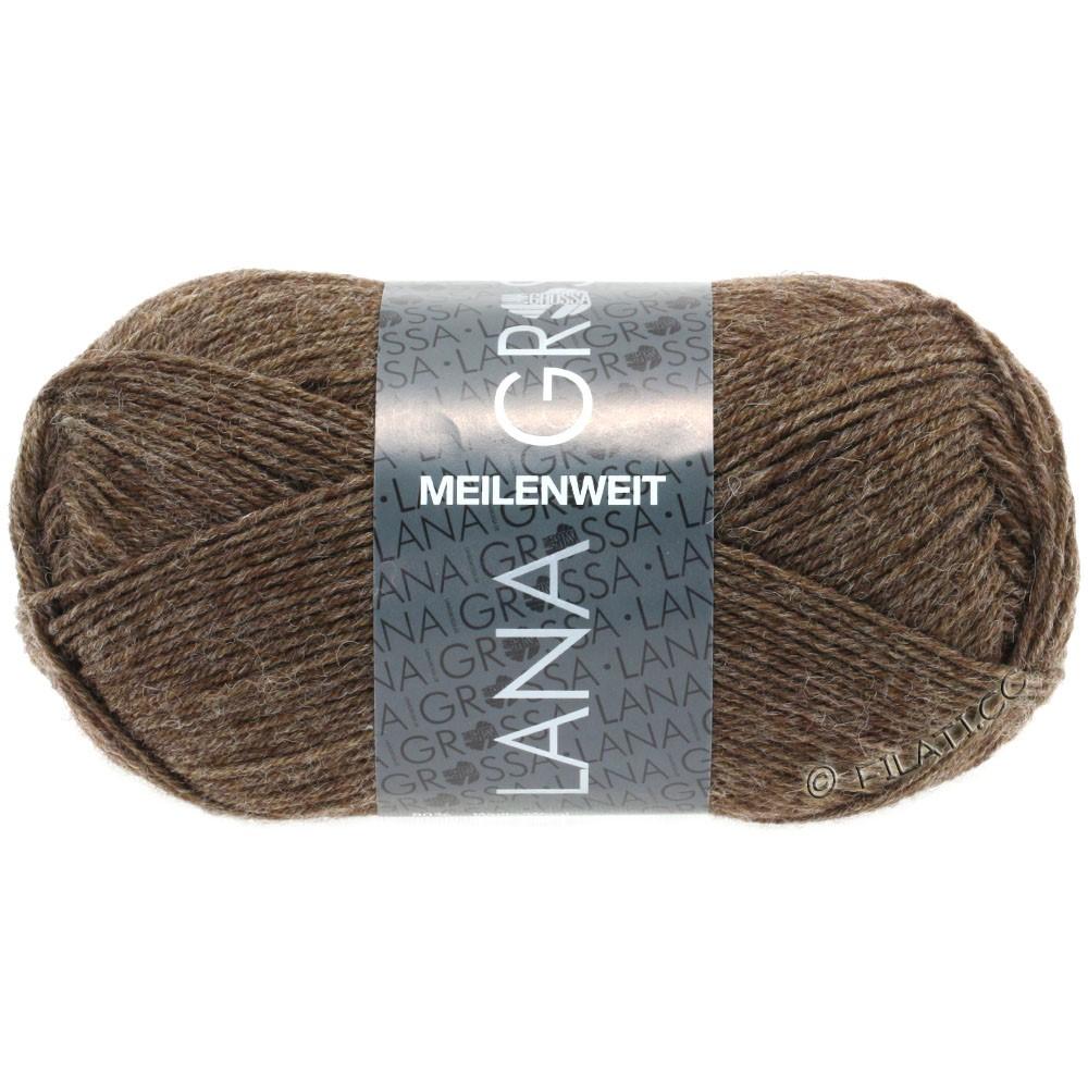 Lana Grossa MEILENWEIT 50g Uni | 1305-серо-коричневый