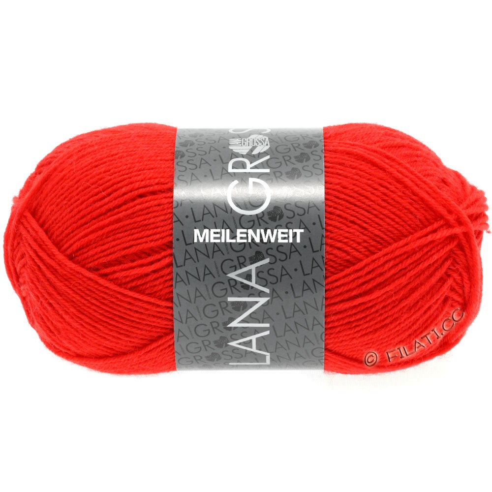 Lana Grossa MEILENWEIT 50g Uni | 1324-светло-красный