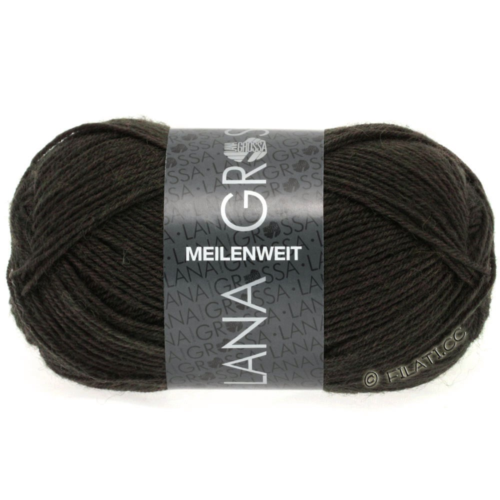 Lana Grossa MEILENWEIT 50g Uni   1331-тёмно-коричневый