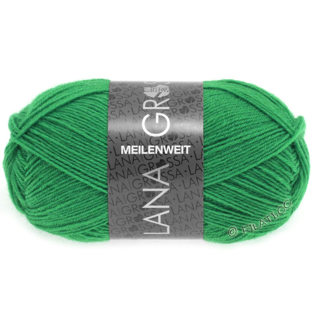 Lana Grossa MEILENWEIT 50g Uni | 1356-нефритово-зеленый
