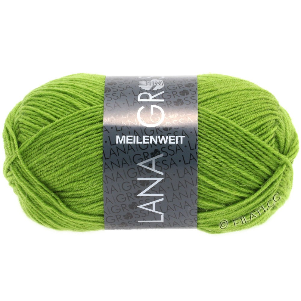 Lana Grossa MEILENWEIT 50g Uni | 1362-жёлто-зеленый