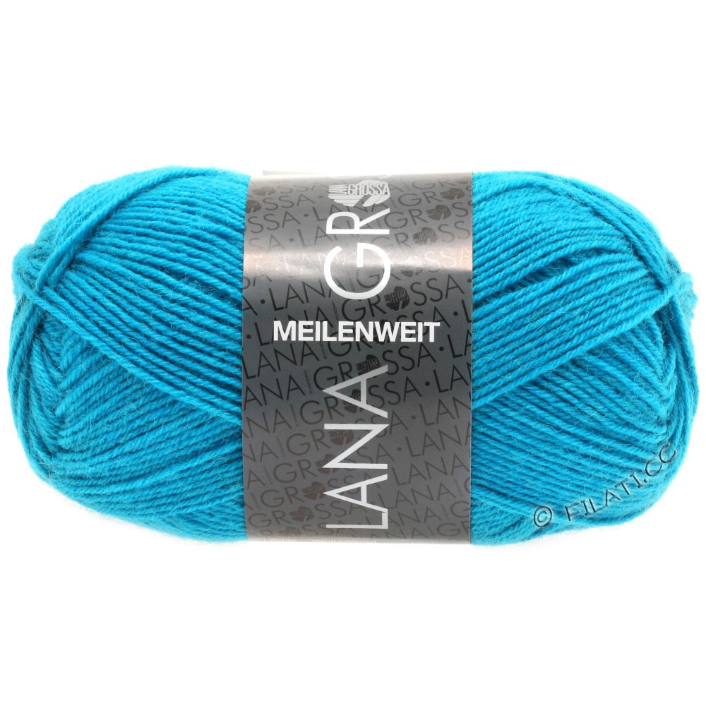 Lana Grossa MEILENWEIT 50g Uni   1366-сине-бирюзовый