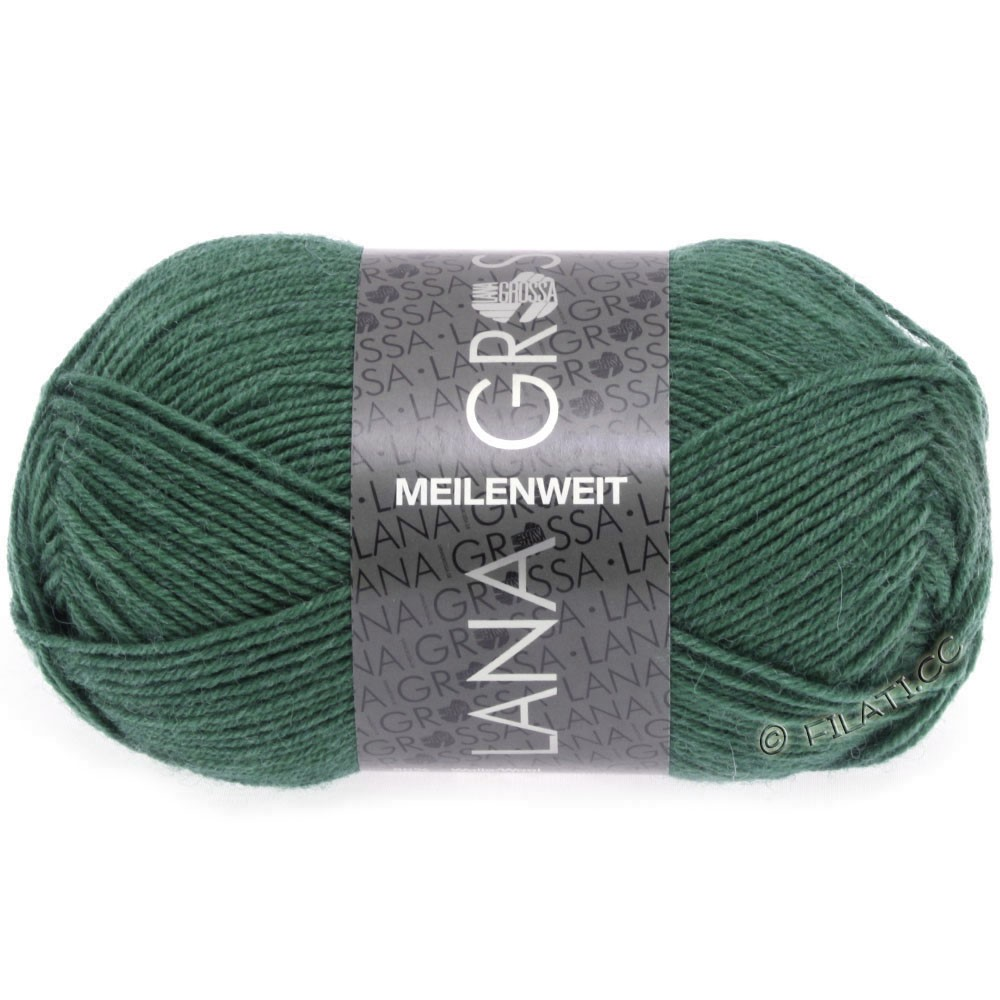 Lana Grossa MEILENWEIT 50g Uni | 1368-тёмно озеро-зеленый