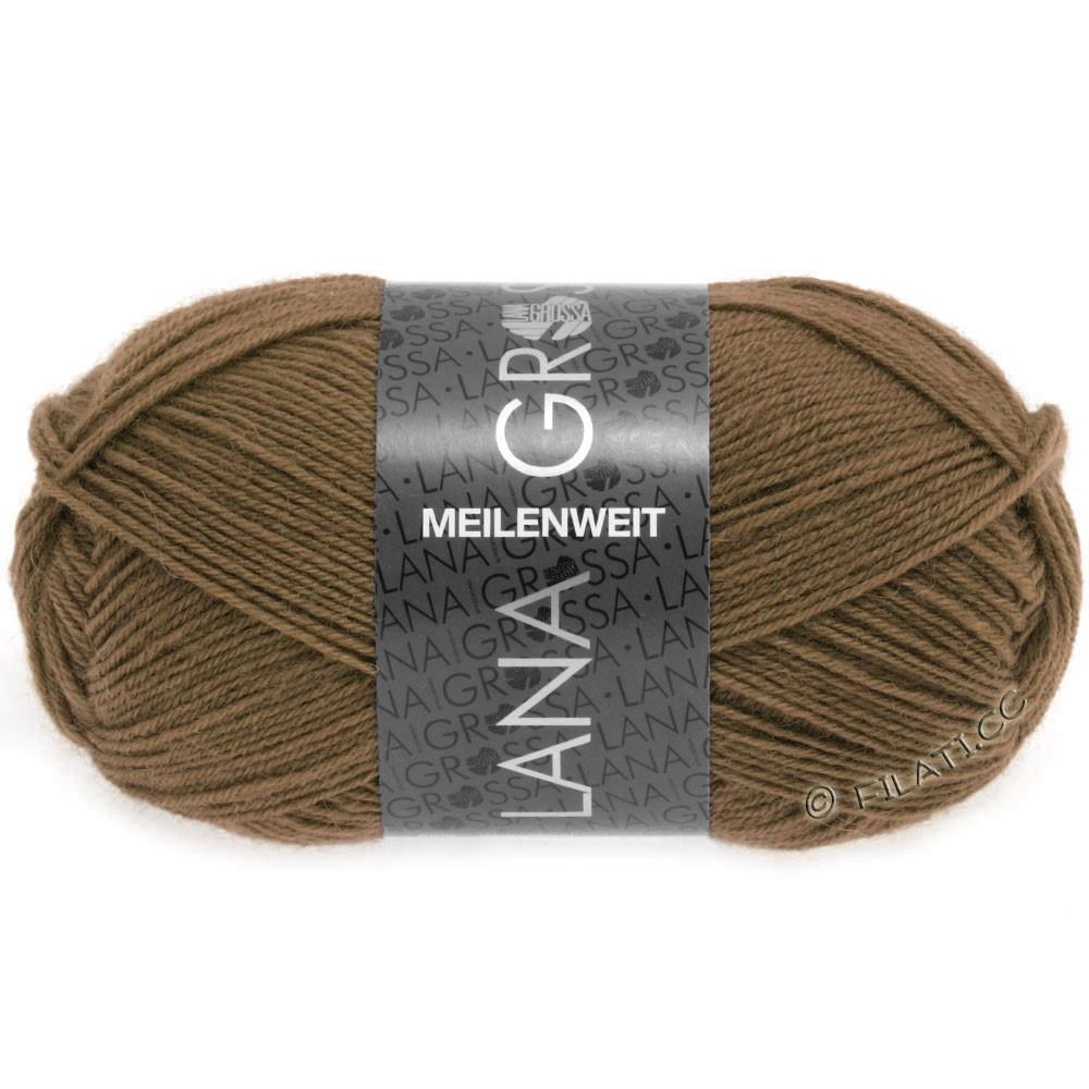 Lana Grossa MEILENWEIT 50g Uni | 1369-коричневый шоколад