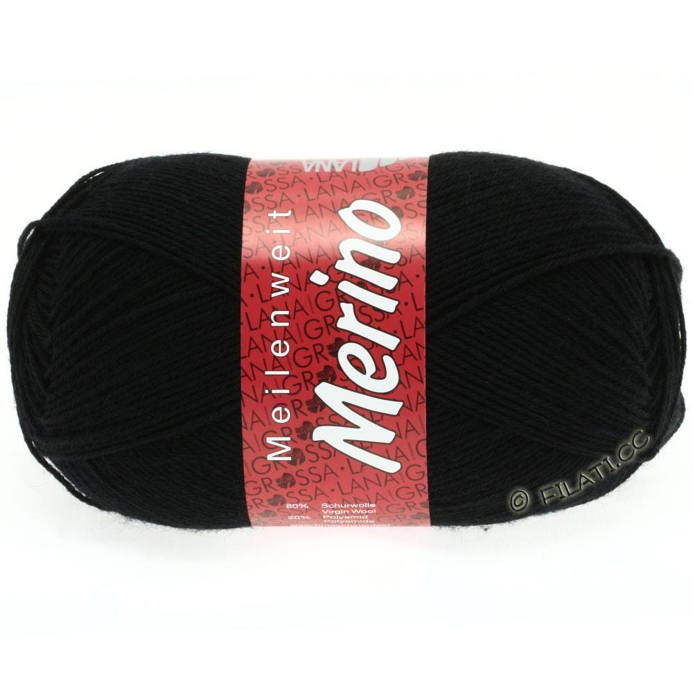 Lana Grossa MEILENWEIT 100g Merino Uni | 2012-чёрный