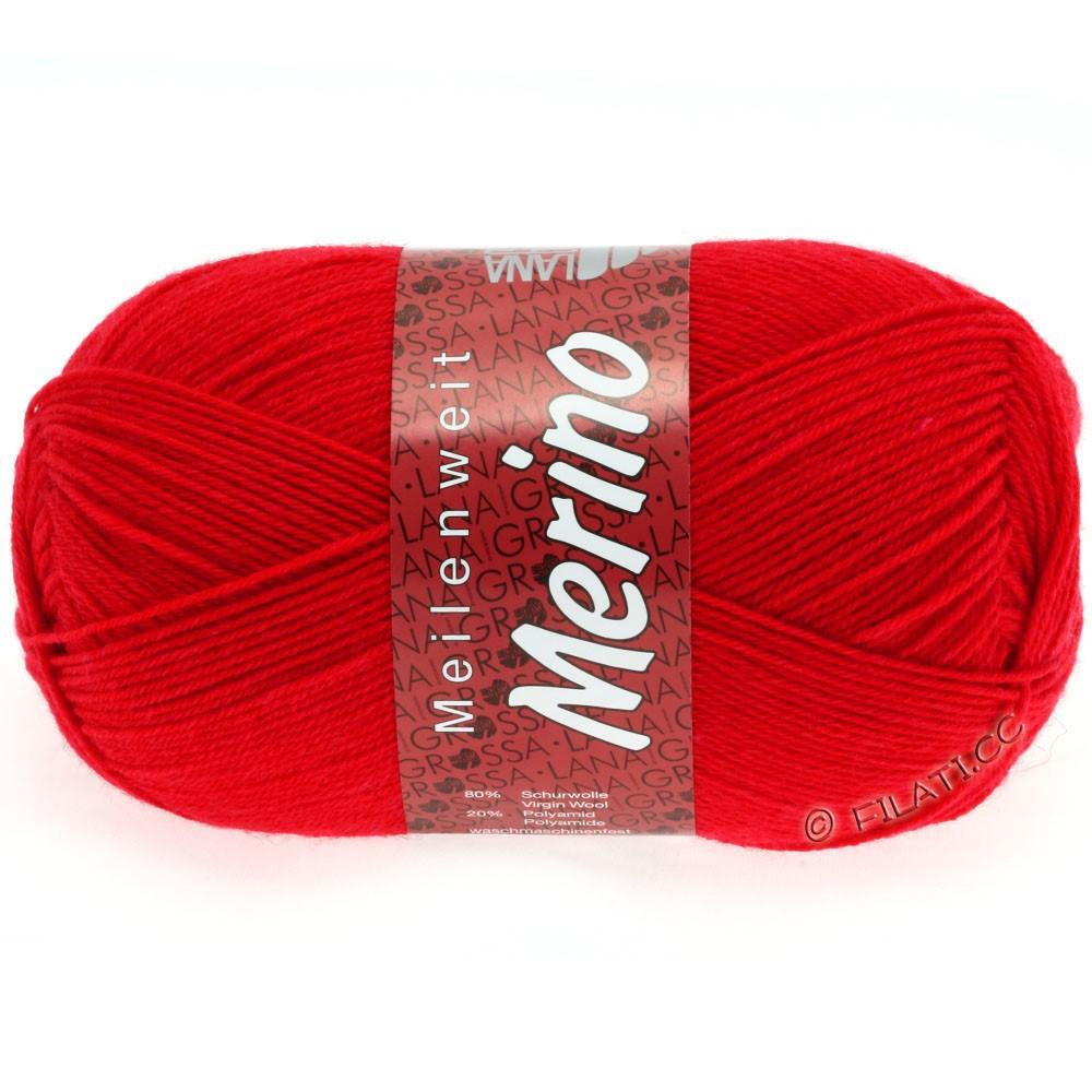 Lana Grossa MEILENWEIT 100g Merino Uni | 2029-огненно-красный