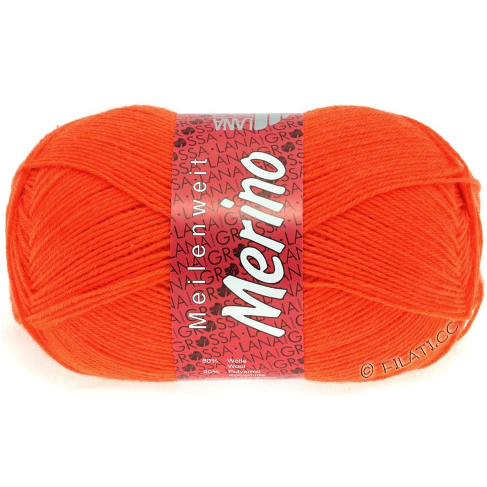 Lana Grossa MEILENWEIT 100g Merino Uni | 2036-неоново-оранжевый