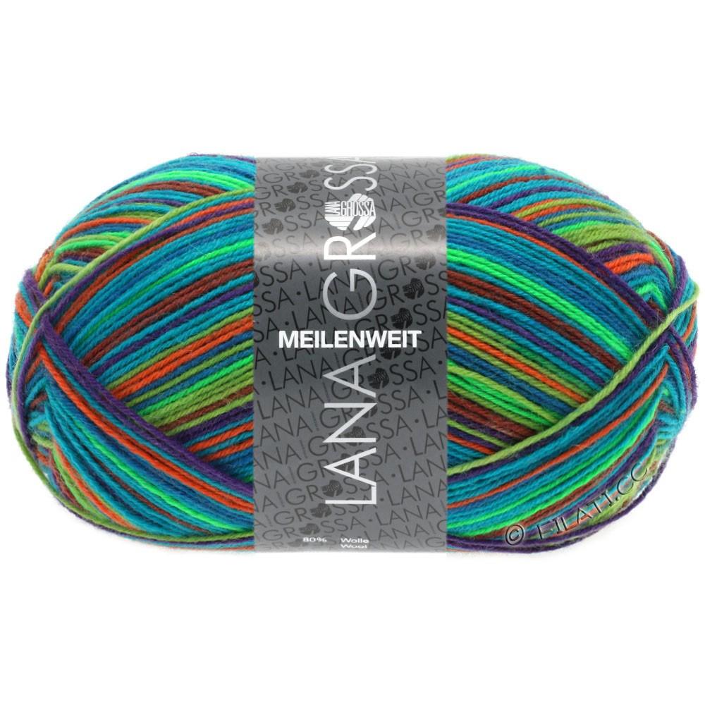 Lana Grossa MEILENWEIT 100g Print (цвета, больше не производятся) | 4605 - Extrem Color-