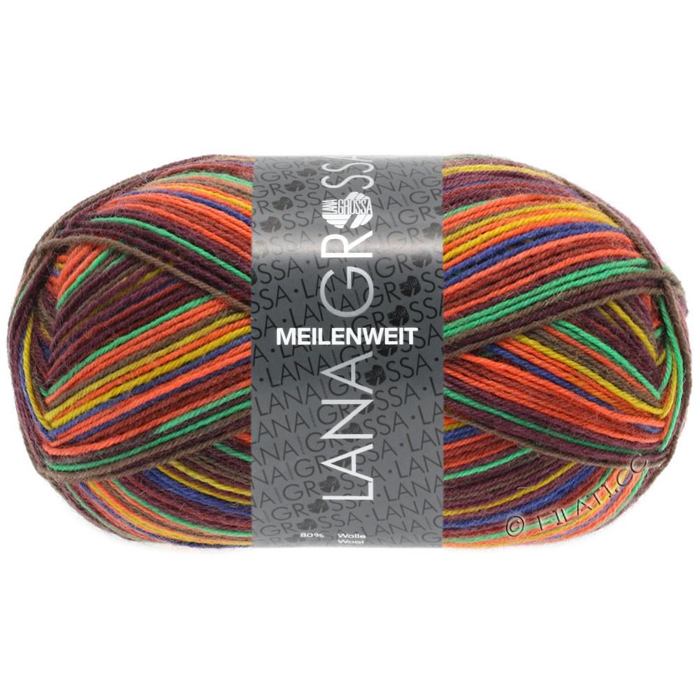 Lana Grossa MEILENWEIT 100g Print (цвета, больше не производятся) | 4606 - Extrem Color-