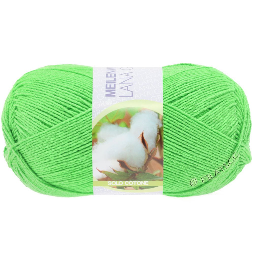 Lana Grossa MEILENWEIT 100g Solo Cotone Unito | 3457-зеленый