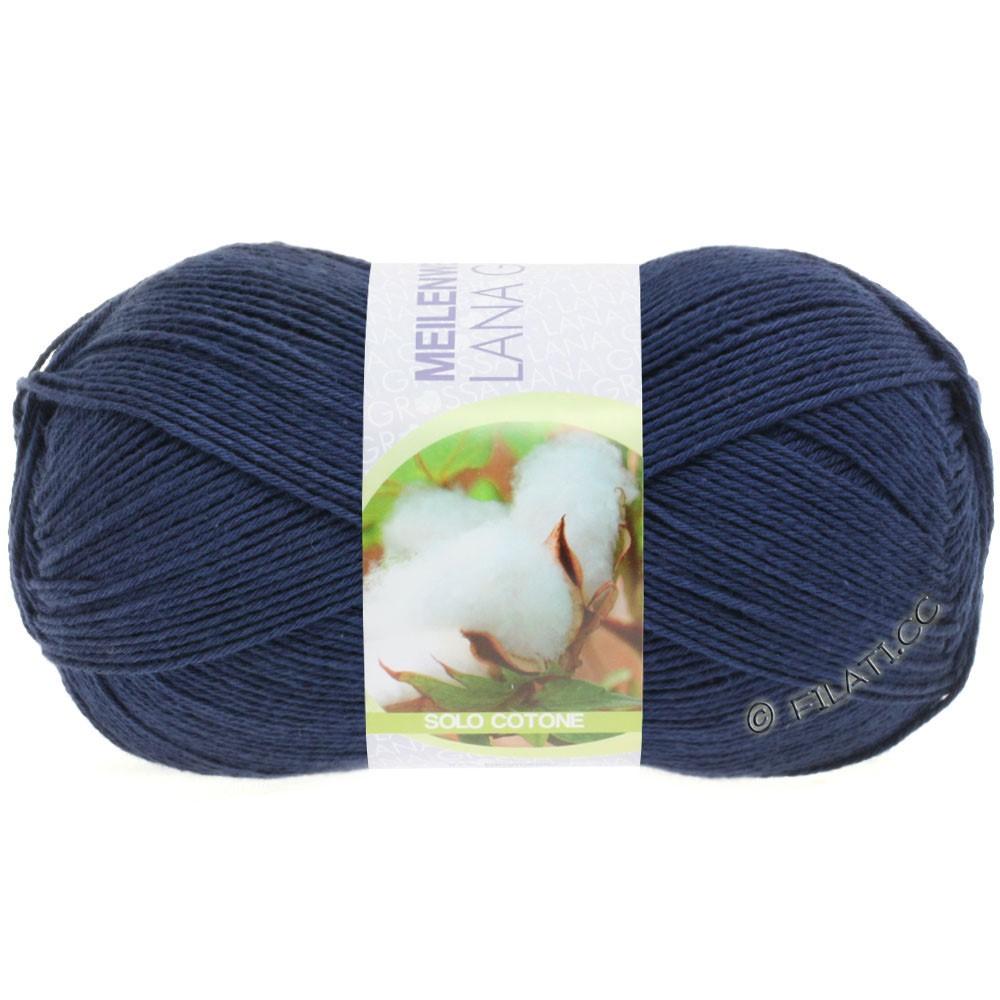 Lana Grossa MEILENWEIT 100g Solo Cotone Unito | 3458-темно-синий