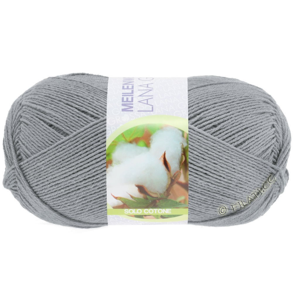 Lana Grossa MEILENWEIT 100g Solo Cotone Unito | 3459-серый
