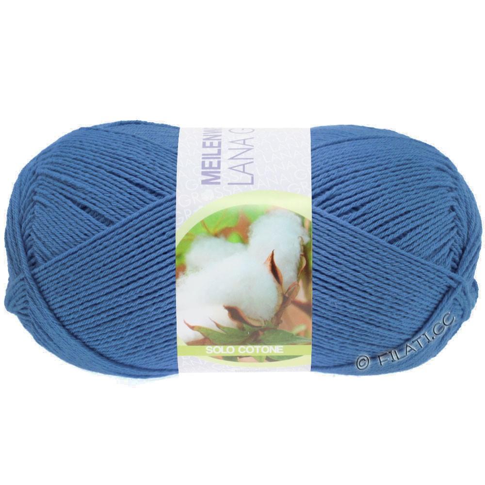 Lana Grossa MEILENWEIT 100g Solo Cotone Unito | 3467-синий