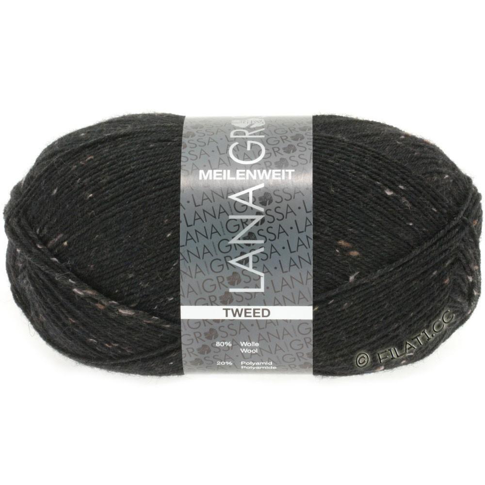 Lana Grossa MEILENWEIT 100g Tweed | 126-чёрный